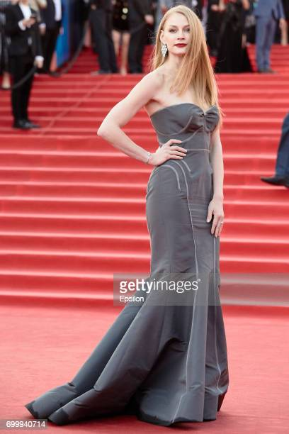 Russian actress Svetlana Khodchenkova attends opening of 39th Moscow International Film Festival at Pushkinsky Cinema on June 22 2017 in Moscow Russia