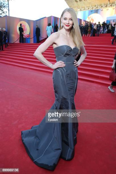 Russian actress Svetlana Khodchenkova attends opening of the 39th Moscow International Film Festival outside the Karo 11 Oktyabr Cinema on June 22...