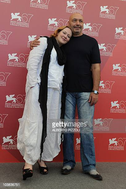 Russian actress Yuliya Aug and actor Yuriy Tsurilo pose during the photocall of 'Ovyanski' at the 67th Venice Film Festival on September 4 2010 at...