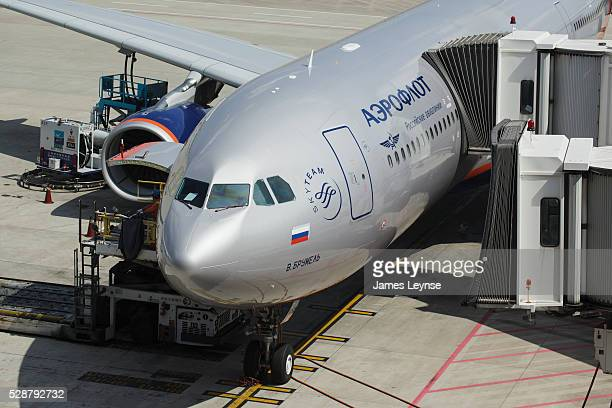 A Russian Aeroflot jet at Shanghai Pudong International Airport The airport is the primary international airport serving Shanghai China and a major...