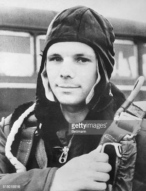 Russian Air Force Major Yuri Gagarin age 27 became the first man in space on April 12 1961 Gagarin was orbited around the earth and returned safely