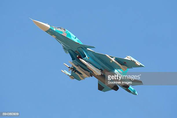 A Russian Air Force Su-34 in flight over Russia.