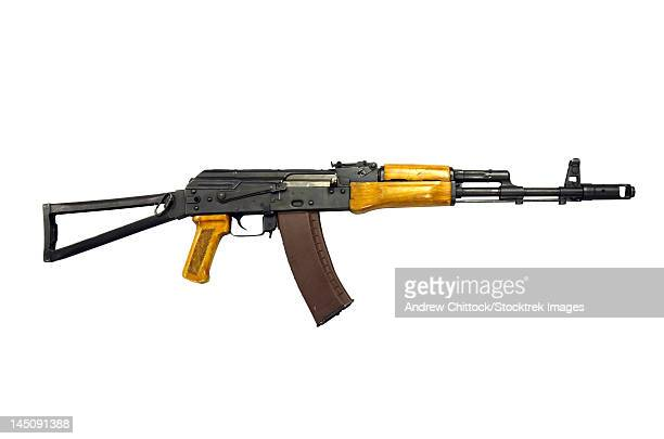 Russian AK-74 5.54mm assault rifle, new caliber, easily identified by presence of flash eliminator.