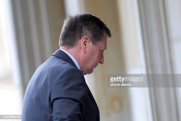 Russian Ambassador to Germany Vladimir Grinin arrives at the Schlosshotel in Kronberg Germany 12 May 2014 Former German Chancellor Schroeder...