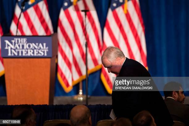 Russian Ambassador to the US Sergey Kislyak arrives to listen to Republican US Presidential hopeful Donald Trump speak about foreign policy at the...