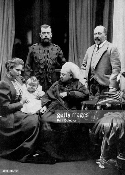 Russian and British royal families at Balmoral Scotland 29th September 1896 The Empress Alix Grand Duchess Olga Emperor Nicholas II Queen Victoria...
