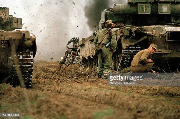 Russian Army Attacks Bamout During First Chechen War