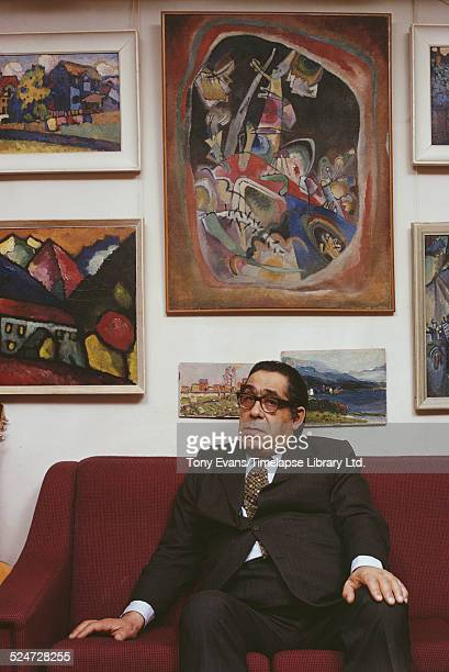 Russian art collector George Costakis February 1973