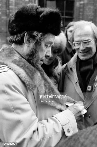 Russian author Aleksandr Solzhenitsyn arriving in Copenhagen after deported from Russia 1974 Here Aleksandr Solzhenitsyn and Danish author Hans...
