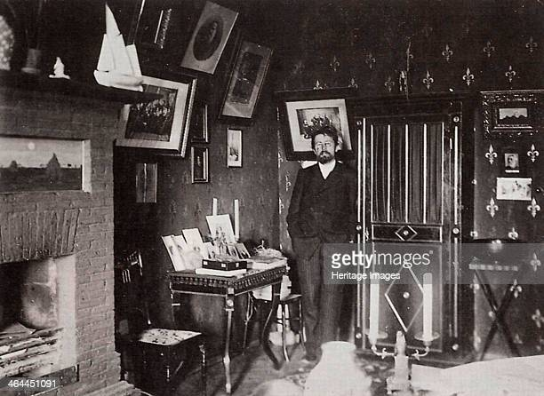 Russian author Anton Chekhov in his studio Yalta Crimea Russia 1901 Chekhov is regarded as one of Russia's finest playwrights and one of the greatest...
