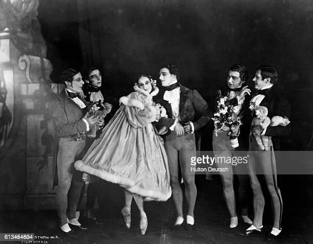 Russian Ballerina Anna Pavlova dances with Novikoff and Domioslavski during the December Waltz by Tchaikovsky