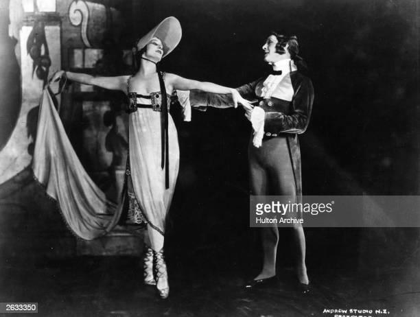 Russian ballerina Anna Pavlova dancing in a production of 'Gavotte'
