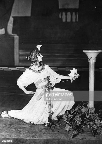 Russian ballerina Anna Pavlova in Egyptian costume during a performance