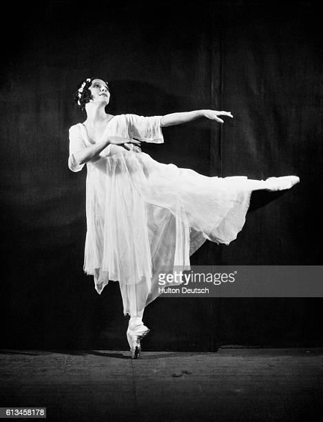 Russian Ballerina Anna Pavlova performing a dance