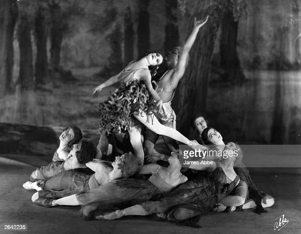 Russian ballerina Anna Pavlova performing in 'Autumn Leaves' one of a number of works she choreographed Original Publication People Disc HP0251
