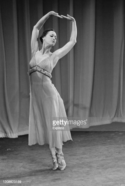 Russian ballet dancer Maya Plisetskaya as the Bolshoi Ballet performed at the Royal Festival Hall in London, England, 17th August 1965.