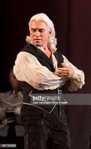 Russian baritone Dmitri Hvorostovsky performs at the final dress rehearsal prior to the season premiere of the Metropolitan Opera/Sir David McVicar...