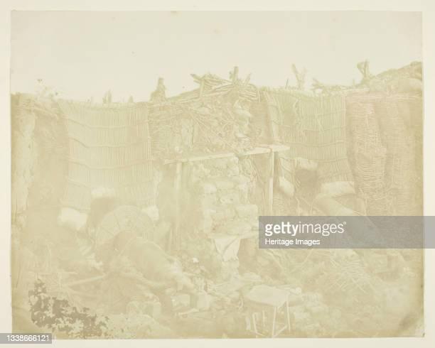 Russian Barrack Battery, 1855. Scene from the Crimean War. Albumen print. Artist James Robertson.