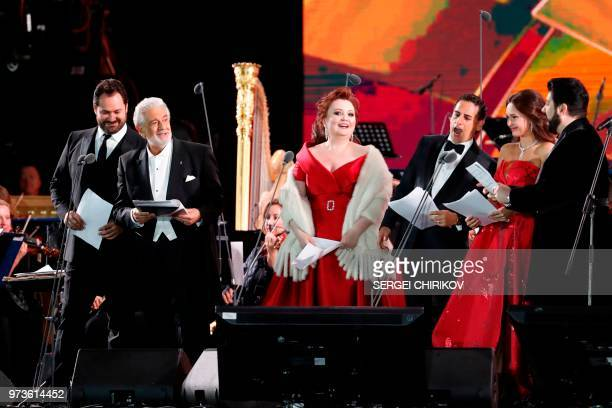 Russian bass Idar Abdrazakov Spanish tenor Placido Domingo Russian coloratura soprano Albina Shagimuratova Peruvian tenor Juan Diego Florez Russian...