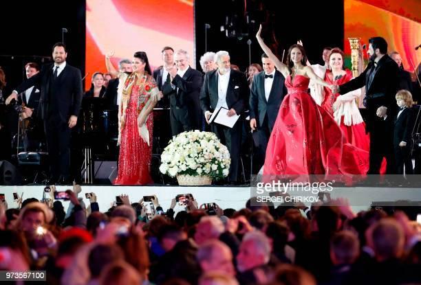 Russian bass opera singer Ildar Abdrazakov Russian soprano Anna Netrebko Russian conductor and Mariinsky Theater Artistic Director Valery Gergiev...
