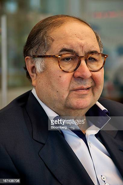 Russian billionaire Alisher Usmanov speaks during a Bloomberg interview in Moscow Russia on Thursday April 25 2013 Usmanov Russia's wealthiest man...