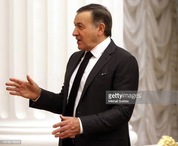 Russian billionaire and businesman Aras Agalarov attends a meeting with top busimessmen at the Kremlin in Moscow Russia December2018 Putin held an...