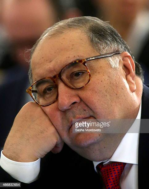 Russian billionaire and businessman Alisher Usmanov the congress of Russian Union of Industrialists and Entrepreneurs on March 19 2015 in Moscow...