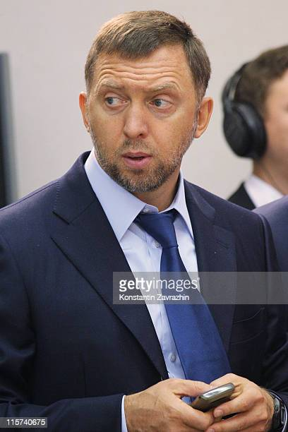 Russian billionaire and businessman Oleg Deripaska attends a State Council meeting June 9 2011 in Nizhny Novgorog 405 km East of Moscow Russia