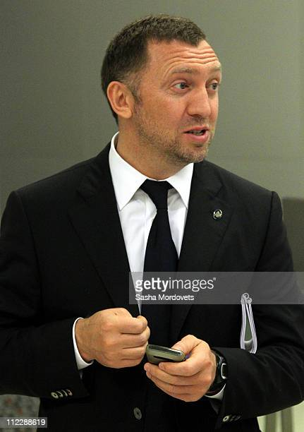 Russian billionaire and businessman Oleg Deripaska is seen visiting the Hong Kong Stock Exchange on April 2010 in Hong Kong China Medvedev is on a...