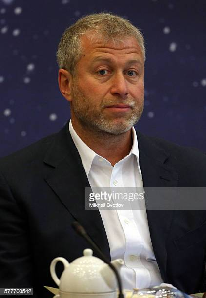 Russian billionaire and businessman Roman Abramovich attends a meeting with top businessmen while visiting the Sirius education center for gifted...