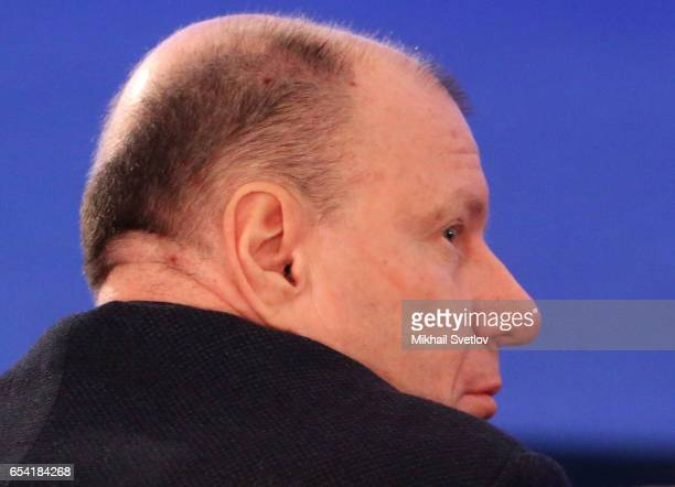 Russian billionaire and businessman Vladimir Potanin attends the plenary session of the Congress of Russian Union of Industrialists and Entrepreneurs...