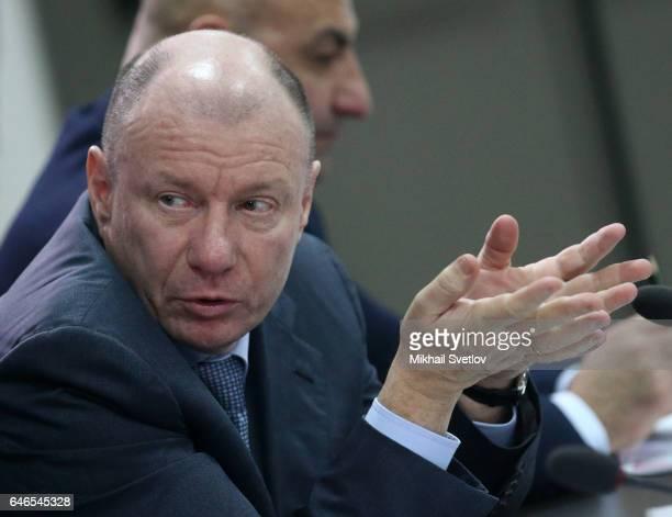 Russian billionaire and businessman Vladimir Potanin attends the meeting on sport development in the region on March 1, 2017 Krasnoyarsk, Russia....