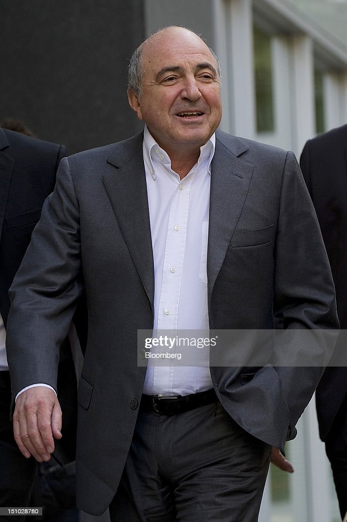 Russian billionaire Boris Berezovsky, arrives at the High Court ahead of todays ruling in London, U.K., on Friday, Aug. 31, 2012. Roman Abramovich won a lawsuit seeking about $6.8 billion over claims he intimidated Berezovsky into selling shares in two Russian oil and metal companies for far less than they were worth. Photographer: Simon Dawson/Bloomberg via Getty Images