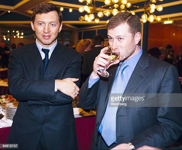 Russian Billionaire Oleg Deripaska left and Roman Abramovich attend a meeting between Russian president Vladimir Putin and Russian businessmen at the...