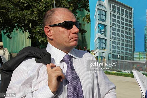 Russian billionaire Vladimir Potanin attends a foundation stone-laying ceremony of the Russian International Olympic University June 7, 2010 in in...