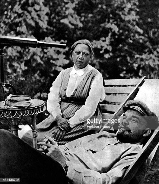 Russian Bolshevik leader Vladimir Lenin and Nadezhda Krupskaya Gorki USSR 1922 Lenin and Nadezhda Krupskaya married in 1898 when they were both...