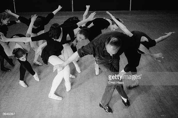 Russian born American choreographer and ballet dancer George Balanchine cofounder and artistic director of the New York City Ballet working on dance...
