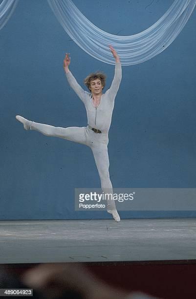 1968 Russian born ballet dancer Rudolf Nureyev performs on stage at the Palladium Show in London in 1968