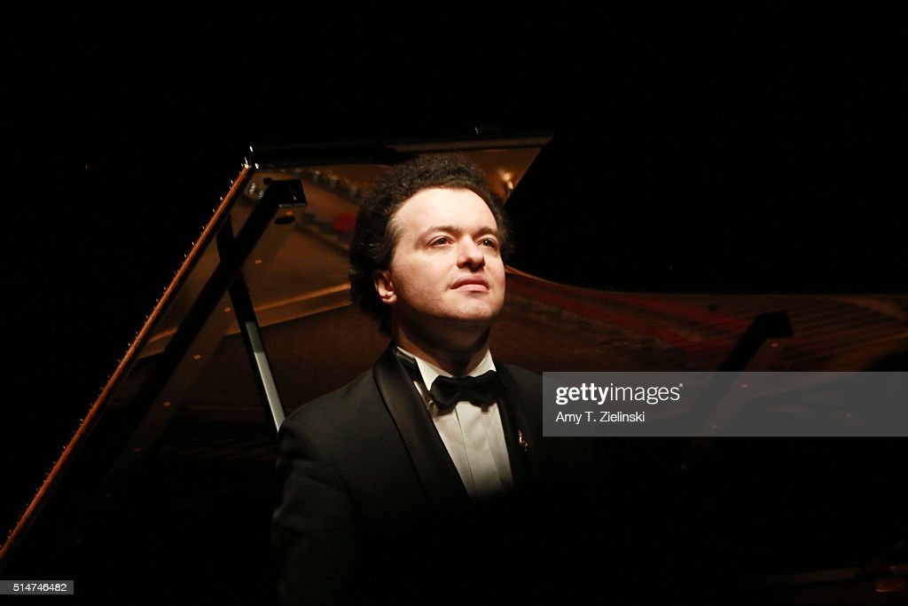 Russian born pianist Evgeny Kissin performs a solo piano recital works by composers Mozart, Albeniz, Brahms, Larregla and Beethoven's 'Appassionata' on a Steinway at Barbican Centre on March 10, 2016 in London, United Kingdom