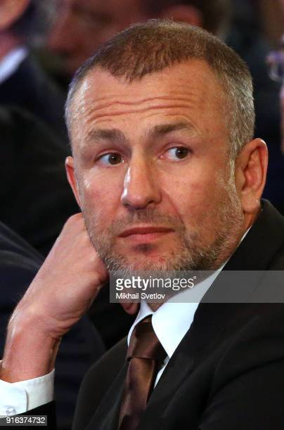 Russian businessman and billionaire Alexei Melnichenko is seen during the Congress of Russian Union of Industrialists and Entrepreneurs at the Ritz...