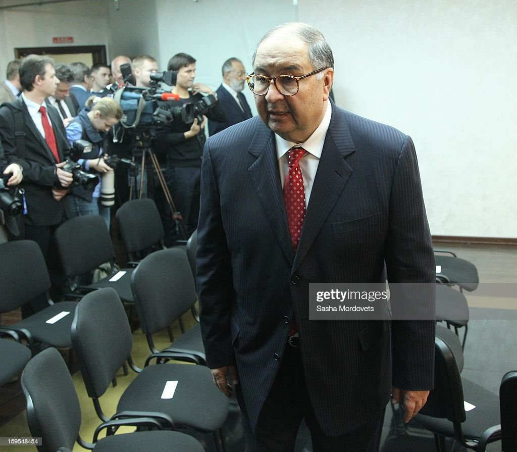 Russian businessman and billionaire Alisher Usmanov attends the openings of the Russia Geographical Society new headquarters on January 15, 2013 in Moscow, Russia. President Vladimir Putin also took part in the ceremony on Tuesday.