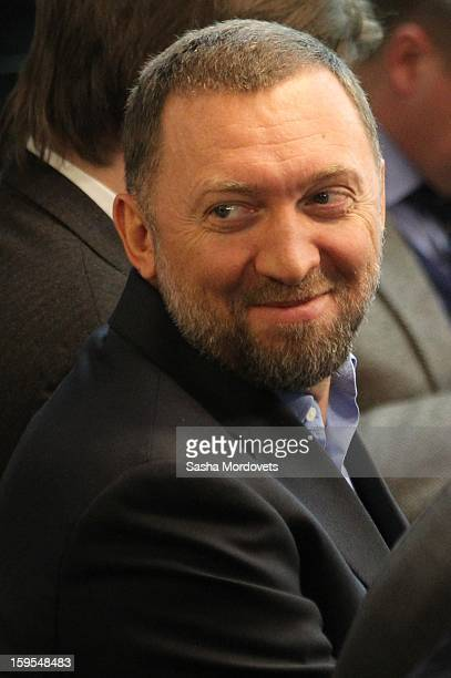 Russian businessman and billionaire Oleg Deripaska attends the openings of the Russia Geographical Society new headquarters on January 15 2013 in...
