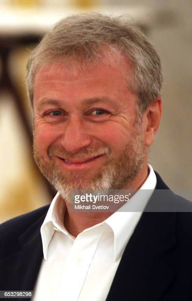 Russian businessman and billionaire Roman Abramovich smiles during the reception at the Grand Kremlin Palace on March 14 2017 in Moscow Russia Naina...