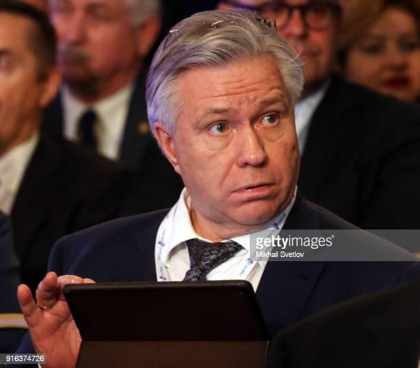 Russian businessman and billionaire Surgutneztegaz President Vladimir Bogdanov attends the Congress of Russian Union of Industrialists and...