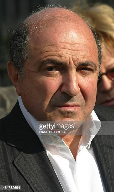 Russian businessman Boris Berezovsky is pictured as he attends a memorial to murdered Russian political journalist Anna Politkovskaya outside...