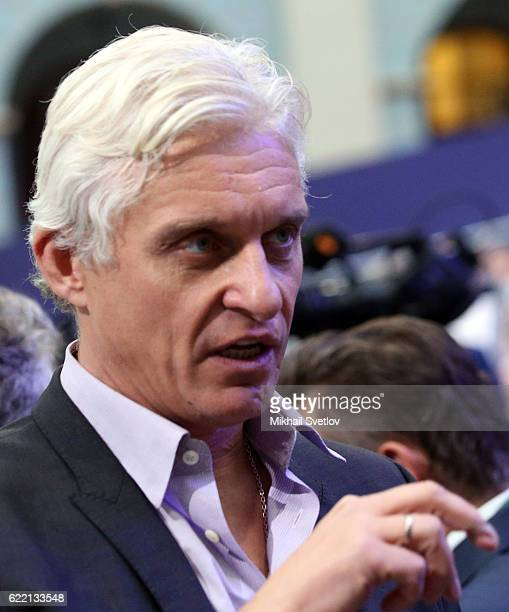 Russian businessman, owner of Tinkoff Bank Oleg Tinkov attends the conference of Sberbank in Moscow, Russia, on November 2016. Sberbank of Russia...