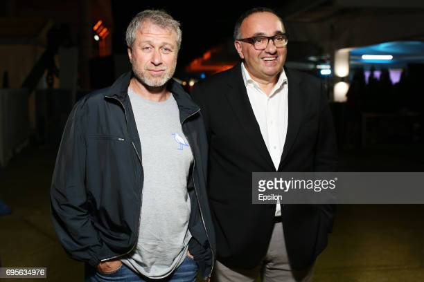 Russian businessman Roman Abramovich and producer Alexander Rodnyanski attend a RuArts Foundation cocktail party at the 28th Kinotavr Film Festival...