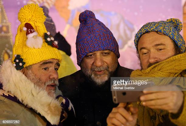 Russian businessman, shareholder of Troika Dialog investment company Ruben Vardanyan and GUM owner Mikhail Kusnirovich attend the opening ceremony at...