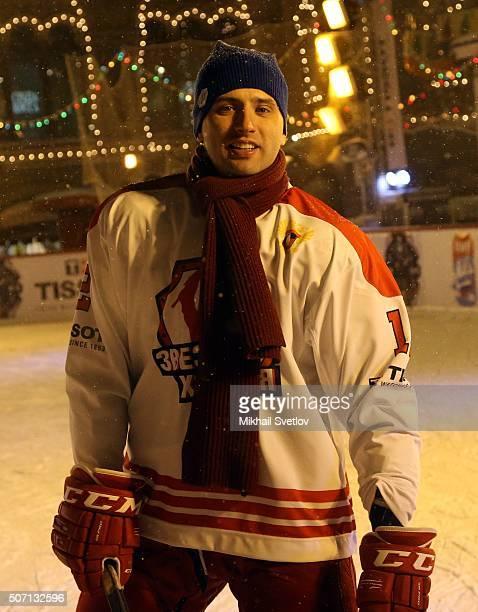 Russian businessman, SKA St. Petersburg's vice president and son of billionaire Boris Rotenberg Roman Rotenberg takes part in a hockey match marking...