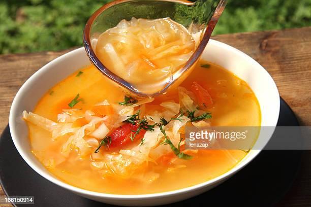 Russian cabbage soup schi